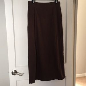 brushed stretch twill maxi, size 8